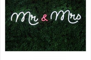mr and mrs neon Advertising Wall Mounted Outdoor Decorations Custom Letters Board Lights Led Neon Sign