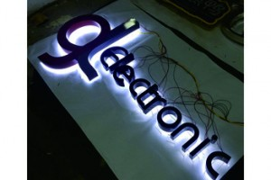 Custom Stainless steel led backlit signs outdoors laser  3d stainless steel sign Illuminated Channel Letters