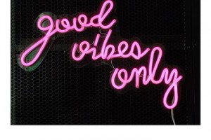 good vibes only neon Outdoor advertising green color neon letter sign