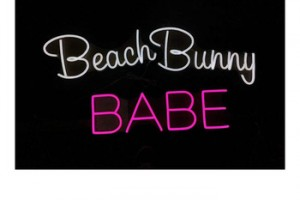 Beach Bunny babe neon Indoor Outdoor Acrylic 3d Sign Customized Led Outdoor Light Neon Flex Sign For Advertising