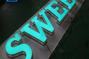 Outdoor Custom Led Sign Lights 3D Letters Stainless steel /Acrylic  Channel Letters