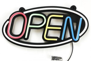 LED Neon Light Open Sign with Indoor Electric Light up Sign for Stores