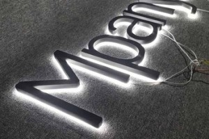 Online 3d led letter sign outdoor sign board diy led backlit channel letter sign