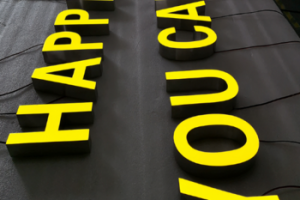 Led Signs Outdoor Lighted Signage Indoor 3D Letters Arabic Letters Resin Sign Frontlit Channel Letters
