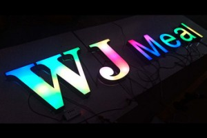 rgb bar 3d acrylic light up channel letter stainless steel sign store front advertising signs