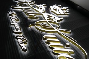 3D Lighting Signage Front And Edge Lit Acrylic Letters Sign For Display