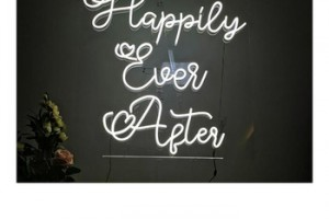 happily ever after neon Outdoor advertising LED neon Pub sign light up decoration neon signs for bar