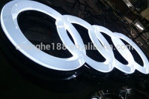 Custom made 3D auto emblems car sign logo led advertising signs