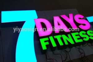 YIYAO Design Store Outdoor Logo Acrylic Metal 3D Alphabet Channel Led Light Board Letter Sign