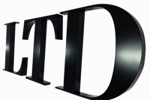 3D laser cutting brushed stainless steel logo letter for business or company signs