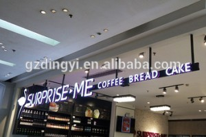 professional factory custom made acrylic mini channel signs illuminated led 3d letter signboard