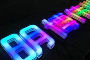 3D LED rgb stainless steel; programmable letter signage , logo signs , company logo name