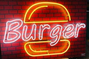 Custom Home Decorative Outdoor Decor palm tree Burger Wings Led Neon Sign Lamp Burger Shenzhen Factory