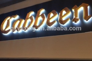 Manufacturer advertising custom outdoor acrylic sign letters LED logo store open sign letter
