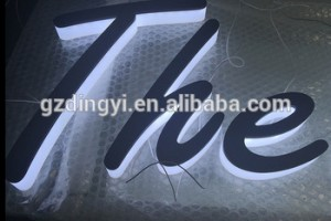 Factory Wholesale Custom 3d Plastic Alphabet Backlit Led Acrylic Letters for Outdoor Signs