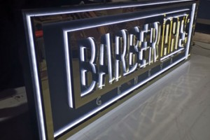 Outdoor Waterproof Customised Advertisement Backlit LED Light Acrylic letter sign with Trim Cap