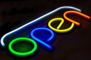 colorful led neon open sign unbreakable open neon sign