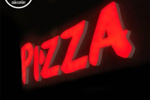 Led pizza shop signs outdoor decorative acrylic light letter storefront sign