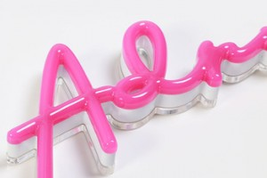 Diversified sharp and color led acrylic neon letters