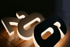 Exterior/Interior custom side lighted channel letters led sign arabic letters block letters sign