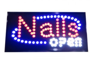 BSCI Factory Bright LED Open Sign for Business, Electric Red & Blue Open Sign for Shop Bar Barbershop