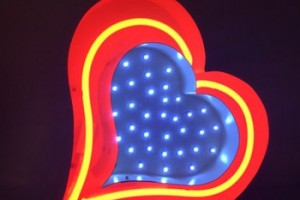 Show your love gift craft lighting led neon heart sign