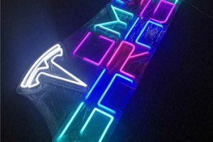 waterproof reliable outdoor colorful lighting 3d flexible car neon sign