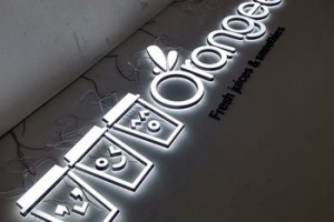 wholesale small size white color 3d acrylic led channel letter sign