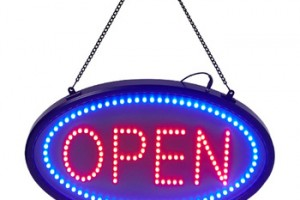 Led open sign, 19x10inch upgrade version open sign