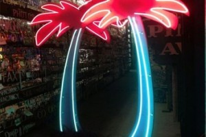 Steel Iron Palm Tree Neon Sign Custom Led Sign