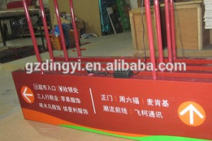 custom made acrylic led signage board illuminated hanging directory signage for shopmall