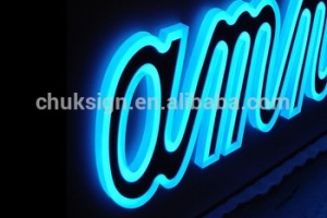 Customized shape led advertising light box sign