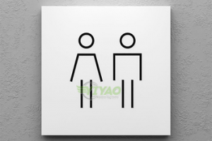 YIYAO custom metal signage aluminum washroom toilet signs for hotel