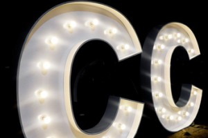 Custom made metal bulb event bar decor signs large signage giant light up decorated alphabet marquee letters